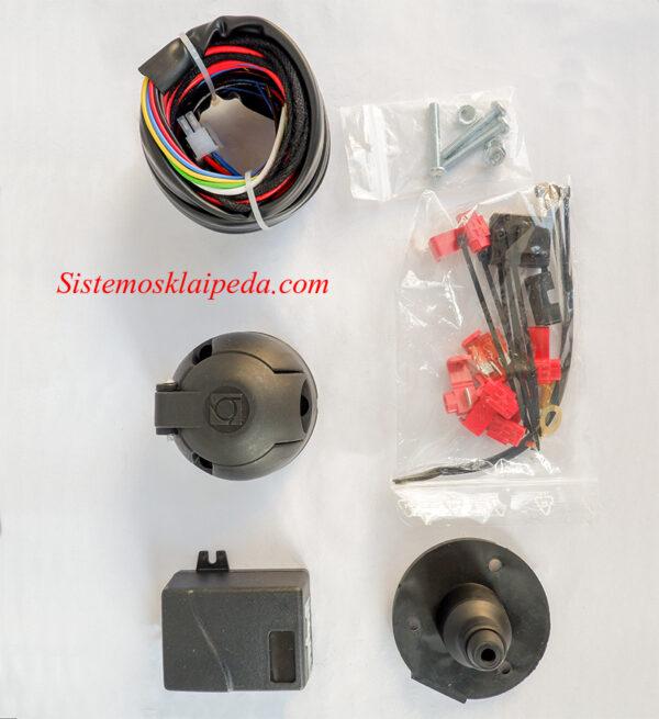 Universalus kablio elektros instaliacijos modulis 7 PIN