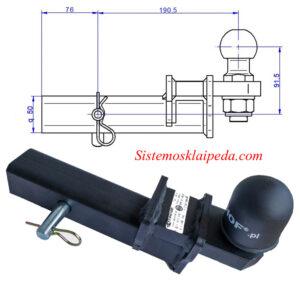 Amerikietiško kablio antgalis steinhof ZK-5 50X50